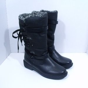 Sporto Waterproof Ross Black Winter Rain Boots